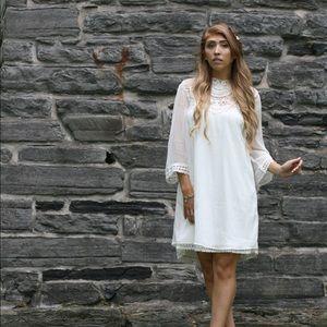 White baby doll dress Vila Clothing- ASOS